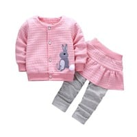 Infants 2 Pc Set Includes Jacket and Skirt Pants, Various Colors Available, Sizes 6 -24 Months