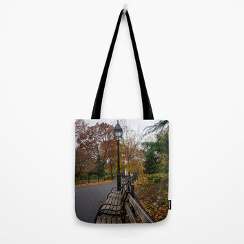 NYC Benches & Trees Tote Bag by audrey_ross