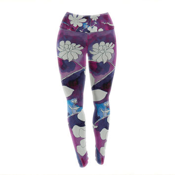 "Theresa Giolzetti ""Succulent Dance III"" Yoga Leggings"