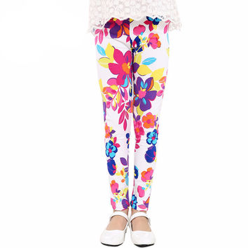 Baby Kids Childrens printing Flower Print Leggings