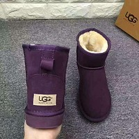 UGG Short boots antiskid warm lazy sheep fur ugg boots pink