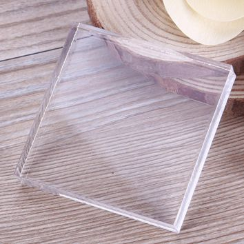 Transparent Acrylic Plate Clay Pottery Sculpture Working Bench Tool DIY Stamp Pressure Plate Square Shaped #232301