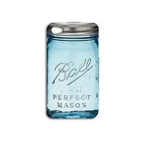 Clear Blue Funny Mason Jar Case Cute iPod Cover iPhone Custom Cool Fun Guy Girl