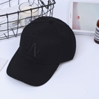 Black LA Embroidery Outdoor Sports Baseball Cap Hats