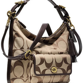 COACH LEGACY SIGNATURE COURTENAY HOBO - Crossbody & Messenger Bags - Handbags & Accessories - Macy's