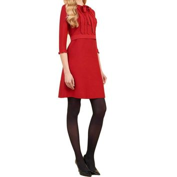 Luisa Spagnoli Molier Red Dress