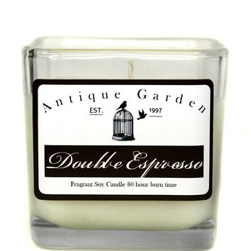 Double Espresso Soy 80 hour Candle by Antique Garden