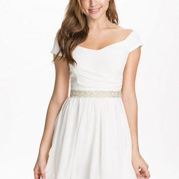 Pearl Waist Bardot Skater Dress, Elise Ryan