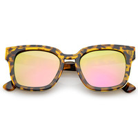 Modern Mirrored Flat Lens Multi Layer Sunglasses A648