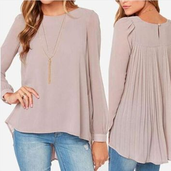 2017 New Summer Women Blouse Shirt Long Section Plus size 5XL Bottoming Shirt Tops Chiffon Blouses camisetas mujer