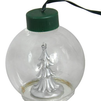 Christmas Ball Ornament - Clear Glass