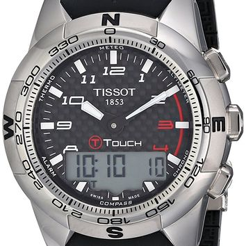 Tissot Men's T0474204720700 T-Touch II Black Digital Multi Function Watch