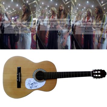 Runaway June Band Autographed Full Size 39 Inch Country Music Acoustic Guitar, Proof