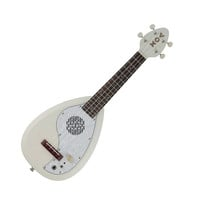 Vox Ukelectric VEU-33C Electric Ukulele w Built in Amp and Speaker - White at Hello Music