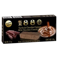 1880 Premium Crunchy Milk Chocolate Turron Bar 5.2 oz. (150g)