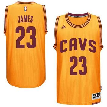 Men's Cleveland Cavaliers LeBron James adidas Gold Player Swingman Alternate Jersey