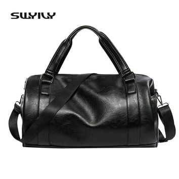 2017 New 20-25 Litre Top PU Leather Men's Sports Bags Gym Bags Classic Sports HandBag Fitness Travel Bags Workout Shoulder Bag