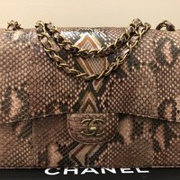 Chanel Python Skin Timeless Bag