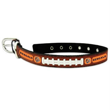 Cincinnati Bengals Classic Leather Medium Football Collar