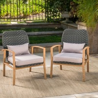 Drago Outdoor Club Armchair with Cushions