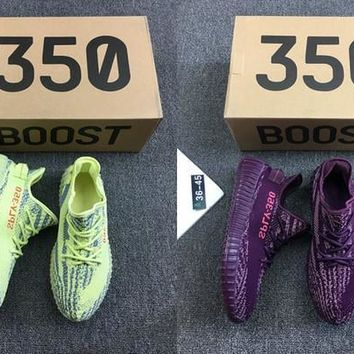 2017 New arrival SPLY-350 Boost V2 Red Night Semi Frozen Kanye West 350V2 SPLY Man Running Shoes mens women sport sneakers US 5-11