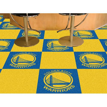 Golden State Warriors NBA Carpet Tiles (18x18 tiles)