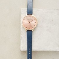 Olivia Burton Big Dial Navy Rose Watch in Navy Size: One Size Watches