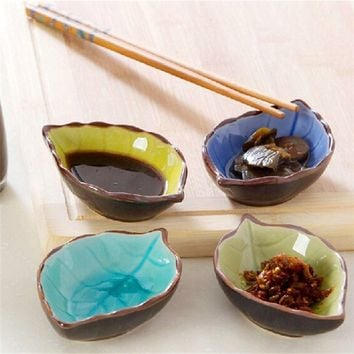 Chinese Porcelain Soy Sauce Dish Sushi Plate Dishes Wasabi Bowl Ceramic Hot Crossborder