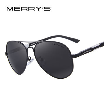 MERRY'S Men HD Polarized Sunglasses Aluminum Magnesium Driving Sun Glasses Men's Classic Brand Sunglasses S'8285