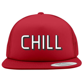Funny Netflix And Chill Foam Trucker Hat