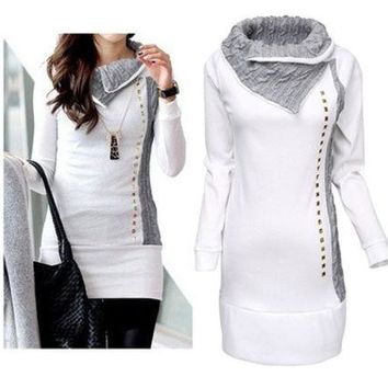 LMFCT9 Women's Winter Long Sleeve Pullover Hoodie Jacket Sweater Coat [8940806855]