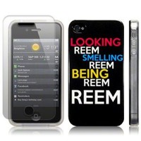 iPhone 4s/iPhone 4 Looking Smelling Being Reem Cover and Screen Protector PART OF THE QUBITS ACCESSORIES RANGE