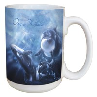 Whale Orca Classic Mug - Large 15 oz Ceramic Coffee Mug