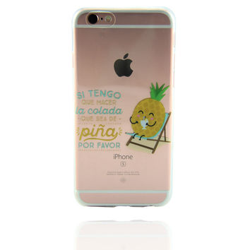 Originality Mr Pineapple Case Personal Tailor Cover for iPhone 7 7 Plus & iPhone 5s se 6 6s Plus + Gift Box-468