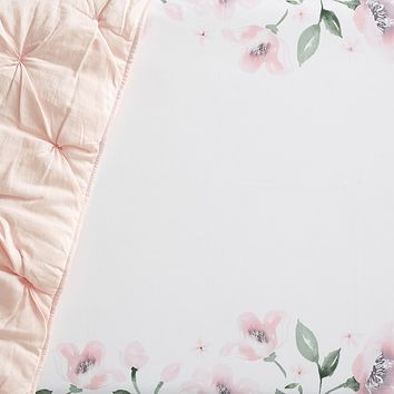 Organic Picture Perfect Meredith Floral Crib Fitted Sheet
