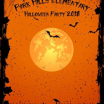 Halloween Orange Pumpkin Theme Party Backdrop (Any Color) Background - C0245
