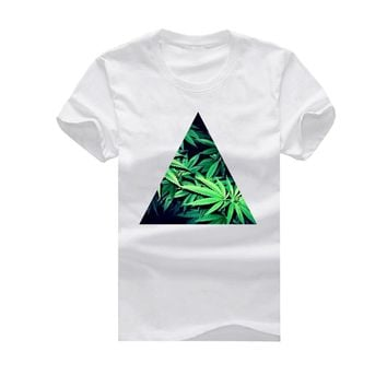 The Triangle of Cannabis - Men's Short Sleeve Weed T-Shirt