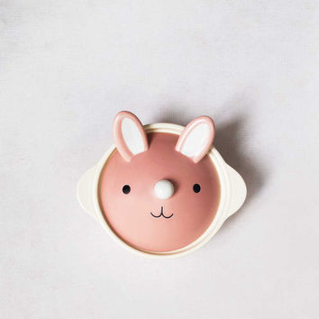 Pink Bunny Clay Pot
