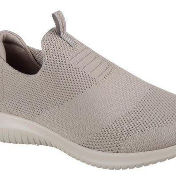 DCCKAB3 Skechers Taupe Ultra Flex - First Take Walking Shoes