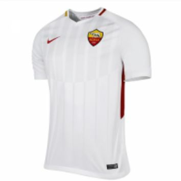 17-18 Roma Away White Soccer Jersey Shirt