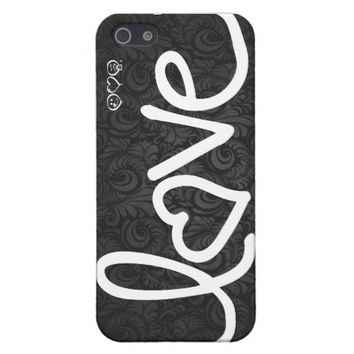 love with floral damask background cases for iPhone 5 from Zazzle.com