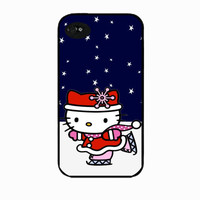 Christmas Hello Kitty Iphone 5 case, iphone 5 cover,