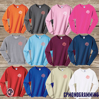 ADULT Monogram Crewneck Sweatshirt, Monogram Crewneck Sweater, Monogram Gift, Bridesmaid Honeymoon Sweatshirt, Sorority Sweatshirt Crewneck