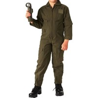Olive Drab - Kids Air Force Style Flight Suit