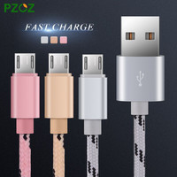 PZOZ Micro USB Cable Fast Charge Mobile Phone Andriod Cable Adapter Microusb Cabel For Samsung Xiaomi Huawei MEIZU Umi Rome X