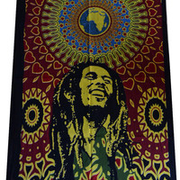 Bob Marley One Love Tapestry Wall Hanging Throw Poster Flag Cotton Textile 40*30