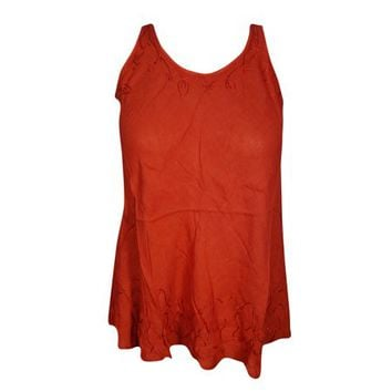 Mogul Womens Sexy Red Tunic Top Sleeveless Round Neck Summer Fashion Blouse - Walmart.com
