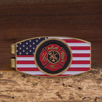 Fire Fighter Money Clip