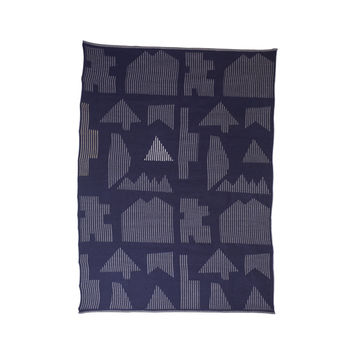 Houses Baby Alpaca Throw
