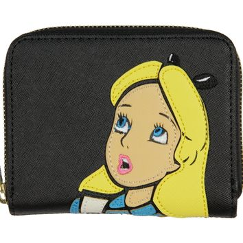 Loungefly Disney Alice In Wonderland Alice Surprised Zip Around Wallet